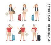 collection of male and female... | Shutterstock .eps vector #1049758193