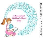 international children's book... | Shutterstock . vector #1049758238