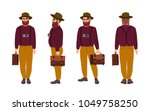 thick hipster man wearing... | Shutterstock .eps vector #1049758250