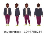thick bearded african american... | Shutterstock .eps vector #1049758259
