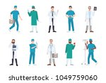 collection of male medical... | Shutterstock .eps vector #1049759060