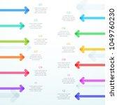abstract vector arrow 12 step... | Shutterstock .eps vector #1049760230