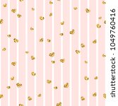 gold heart seamless pattern.... | Shutterstock .eps vector #1049760416