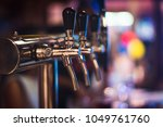 bar pub beer cup glass draft... | Shutterstock . vector #1049761760