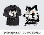 t shirt template  vector | Shutterstock .eps vector #1049763980
