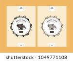 vector set of package design... | Shutterstock .eps vector #1049771108