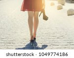 lady in red dress  with high... | Shutterstock . vector #1049774186