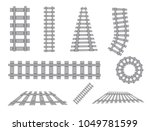 railway vector template. set of ... | Shutterstock .eps vector #1049781599