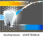 vector tooth.poster  leaflet ... | Shutterstock .eps vector #1049783816