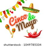 3d cinco de mayo party poster... | Shutterstock .eps vector #1049785334