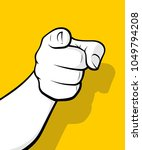 finger pointing in front view | Shutterstock .eps vector #1049794208