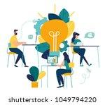 vector illustration  online... | Shutterstock .eps vector #1049794220