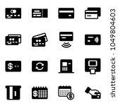 solid vector icon set   credit... | Shutterstock .eps vector #1049804603
