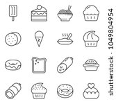 thin line icon set   sausage... | Shutterstock .eps vector #1049804954