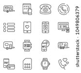 thin line icon set   tablet pc... | Shutterstock .eps vector #1049806379