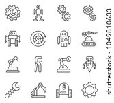 thin line icon set   wrench... | Shutterstock .eps vector #1049810633
