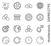 thin line icon set   around the ... | Shutterstock .eps vector #1049812793