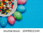 Colored Easter Eggs On A Sauce...