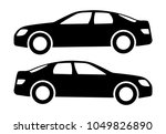 Two Black Car Silhouettes On A...