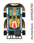 top view kart racer icon... | Shutterstock .eps vector #1049828780