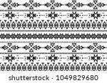 aztec pattern. tribal pattern... | Shutterstock .eps vector #1049829680
