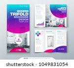 tri fold brochure design. cool... | Shutterstock .eps vector #1049831054