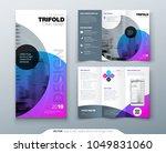 tri fold brochure design.... | Shutterstock .eps vector #1049831060