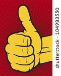 vector hand showing thumbs up  | Shutterstock .eps vector #104983550