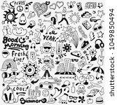 summer lifestyle doodles  | Shutterstock .eps vector #1049850494