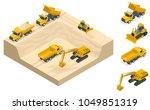 isometric excavators and... | Shutterstock .eps vector #1049851319