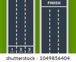 direct street asphalt road ... | Shutterstock .eps vector #1049856404