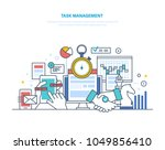 task management  productivity ... | Shutterstock .eps vector #1049856410