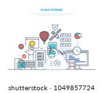 cloud storage service. security ... | Shutterstock .eps vector #1049857724