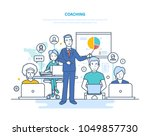 corporate coaching  training ... | Shutterstock .eps vector #1049857730