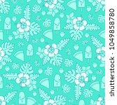 vector seamless pattern with... | Shutterstock .eps vector #1049858780