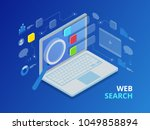 isometric search engine result... | Shutterstock .eps vector #1049858894
