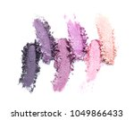 crushed eye shadows on white... | Shutterstock . vector #1049866433