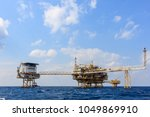 offshore oil and gas central... | Shutterstock . vector #1049869910