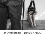 Small photo of Child Abuse with abusive parent father