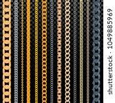 chain vector pattern golden... | Shutterstock .eps vector #1049885969