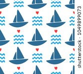 simple marine seamless pattern. ... | Shutterstock .eps vector #1049899073
