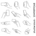 hand gestures with card and... | Shutterstock .eps vector #1049899268