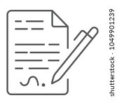 contract thin line icon ... | Shutterstock .eps vector #1049901239