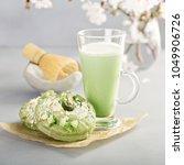 matcha and white chocolate... | Shutterstock . vector #1049906726