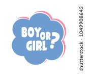 pink and blue gender reveal... | Shutterstock .eps vector #1049908643