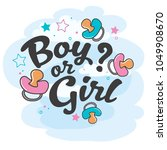 pink and blue gender reveal... | Shutterstock .eps vector #1049908670