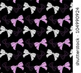seamless polka dot bows pattern   Shutterstock .eps vector #104990924
