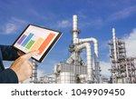 businessman fingers touching... | Shutterstock . vector #1049909450