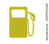 gas pump sign. vector. yellow... | Shutterstock .eps vector #1049910140