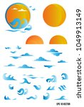 water wave symbol and icon logo ... | Shutterstock .eps vector #1049913149